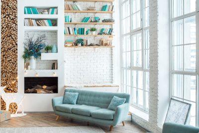 Domowa biblioteka w stylu glamour
