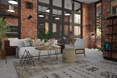 Styl industrialny – nie dla małych pomieszczeń?