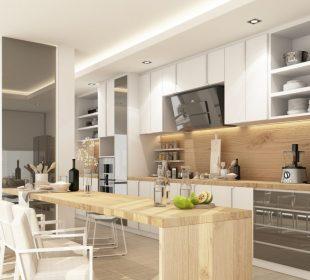 Drewniany blat w nowoczesnej kuchni - pomysły i aranżacje