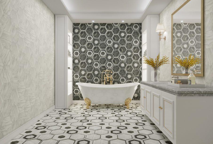 Wanna wolnostojąca w stylu glamour - centrum łazienki