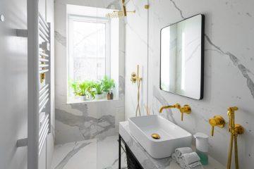 Złote dodatki do łazienki - zainspiruj się!